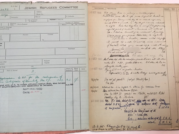 Original Documentation from the Jewish Refugees Committee