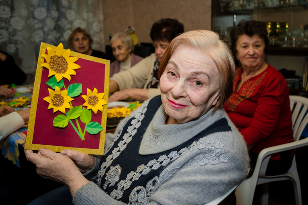 Warm Home women socialise at an event funded by World Jewish Relief in Dnipro