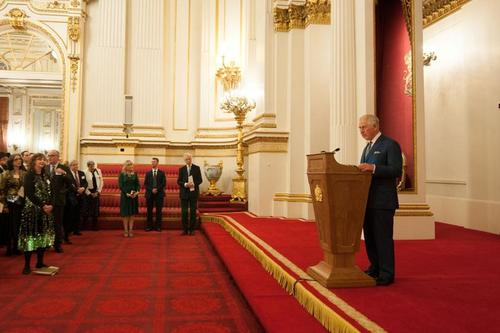 Hrh prince of wales addressing the gathering at buckingham palace listing